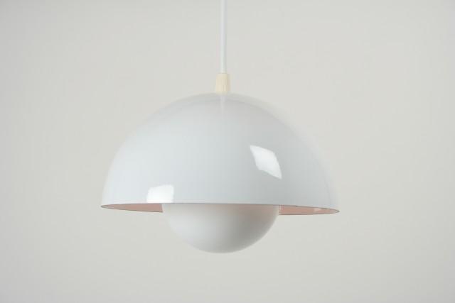 Flowerpot, Louis Paulsen DK, Hängeleuchte, Metall, weiss