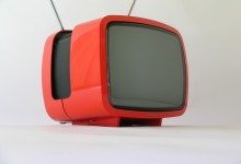 S/W TV Grundig Elite 1200 Super Electronic, 1975, rot