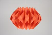 Deckenleuchte Kunststoff Lamellen, orange