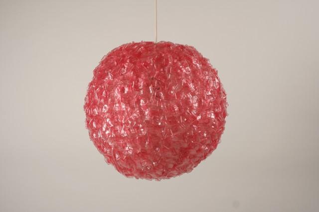 Deckenleuchte Glasgranulat, rosa