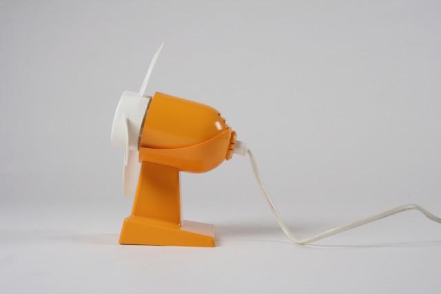 Ventilator König, orange/weiss